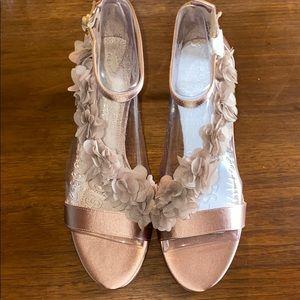 Champagne Pink Satin 2 1/2' Heels